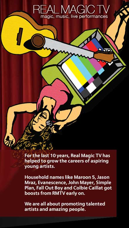 Be on Real Magic TV